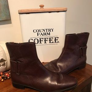 Talbots Leather Brown Ankle Boots 8.5 b